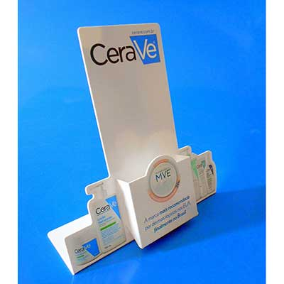 AD Plastic - Porta folheto recorte especial a router, poliestireno alto impacto e personalizado com sua arte em impress�o digital UV