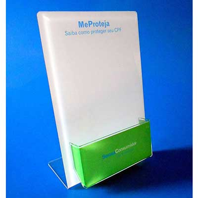 ad-plastic - Porta folheto de acrílico