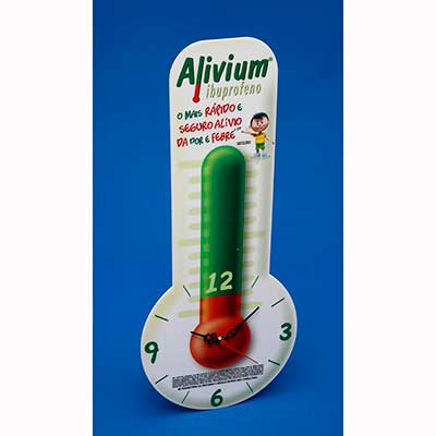 Relógio personalizado. Podendo ser em acrílico ou poliestireno, com recorte especial a laser e impressão digital UV