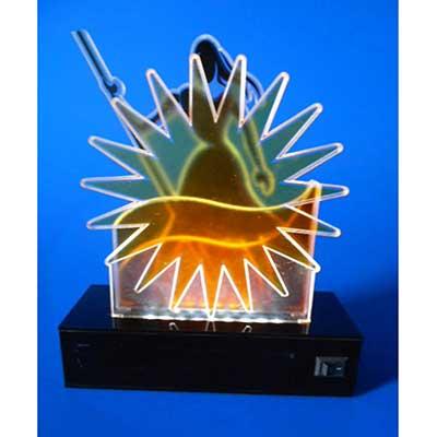 AD Plastic - Troféu constituído por 03 hastes, recortes especiais em acrílico cristal