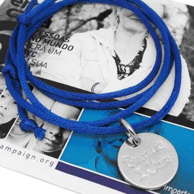 Colar ou pulseira com pingente personalizado