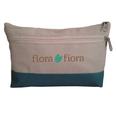 S & S Bolsas - Necessaire em nylon com bolso frontal