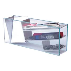 ozn-produz - kit escritório com área para cartões, canetas, clips e outros.