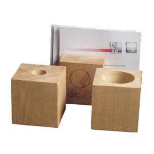 ozn-produz - Conjunto de objetos de madeira certificada para mesa de escritório.
