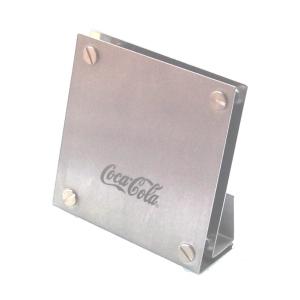 ozn-produz - Porta canetas ou cartões simples e elegante, produzido em aço inox.