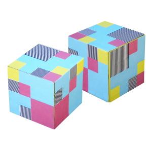 OZN Produz Presentes Corporativos - Porta objetos com design gráfico colorido e contemporâneo.