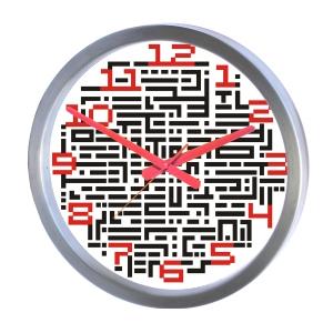 ozn-produz - Relógio de parede redondo com aplicação de grafismo moderno.