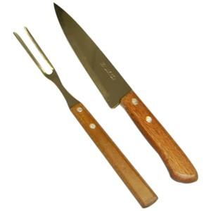 Kit churrasco composto por garfo e faca