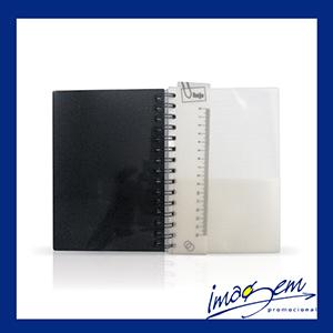 Agenda diária capa de plástico preto - Imagem Promocional