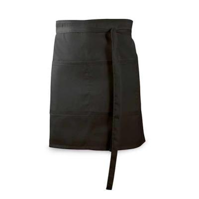Algodão e poliéster: 150 g/m². Com 2 bolsos. 900 x 480 mm | Bolso: 200 x 195 mm.