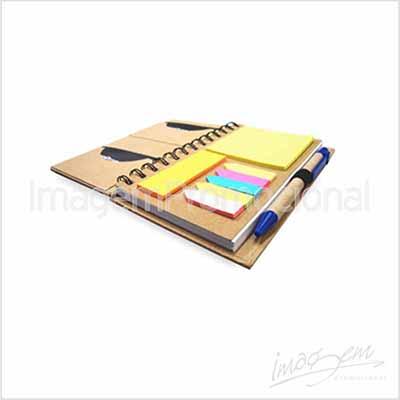 Bloco ecológico - com caneta e bloquinhos adesivos