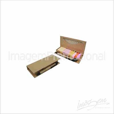 Porta bloco adesivo ecológico com caneta