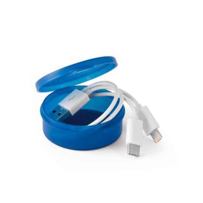 ABS e PVC. Adequado para carregar dispositivos móveis. Dispõe de um conector USB tipo C e um cone...