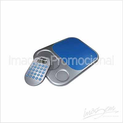Calculadora com mouse pad, Cores disponíveis: AZ / PT - Imagem Promocional