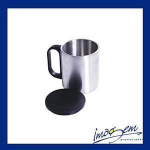 Caneca de inox com tampa - 200 ml