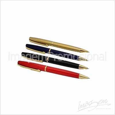 Caneta de metal nas cores VM / AZ / PT / DR / PTA