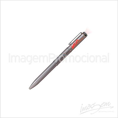 Caneta plástica com led colorido. Cores disponíveis: AZ / VD / VM