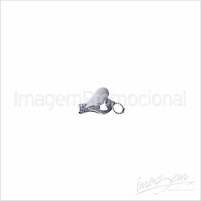 Chaveiro de metal com cortador de unha - Imagem Promocional
