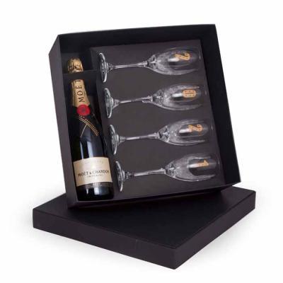 1 Champagne Moët & Chandon Imperial brut 750ml CF2204.10.10 4 Taças de vidro Barone para champagn...