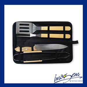 imagem-promocional - Kit churrasco com 4 peças com estojo