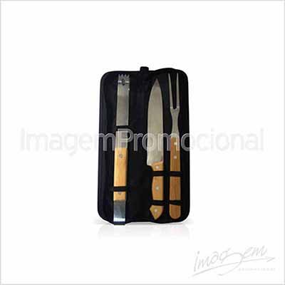 imagem-promocional - Kit churrasco com 03 peças.