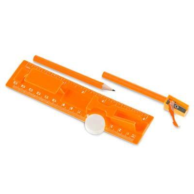 PS. Incluso régua de 15 cm, 2 mini lápis, 1 borracha e 1 apontador. Régua: 157 x 42 x 15 mm.