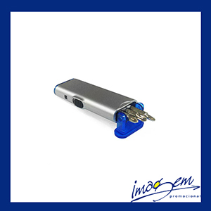Lanterna com jogo de ferramentas azul