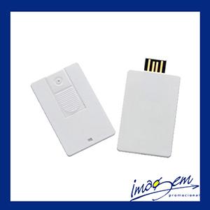 Mini pen card branco com capacidade de armazenamento para 8gb