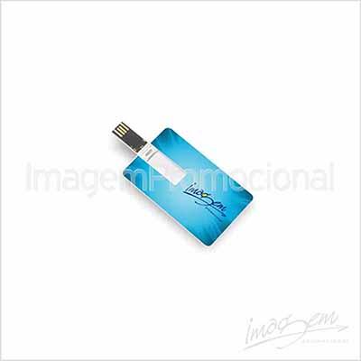 Pen card de 4 gb com gravação UV frente e verso