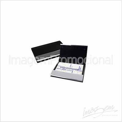 Porta cartão, de metal / sintético