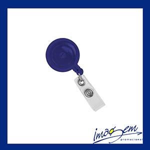 Porta-crachá retangular azul