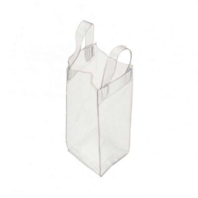 Sacola plástica para gelo com alça. Icebag serve para transportar garrafas exemplo: vinho, champa...