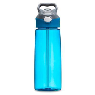 Squeeze 650ml plástico com acionador para abertura. Material plástico transparente, possui tampa ...