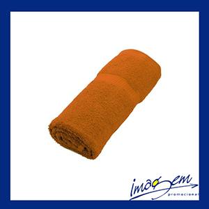Toalha de banho 0,78 x1, 55 410g na cor laranja