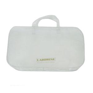 Bolsa personalizada em PVC sarja, com alça de mão em PVC perfilado e zíper de tecido (outras medidas, materiais e detalhes sob consulta). - Eletroplast