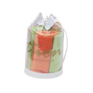- Mochila promocional em PVC cristal, com tarja superior e inferior em PVC camurça colorido e cordão com fecho (outras medidas, materiais e detalhes sob...