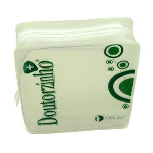 Eletroplast - Necessaire personalizada em PVC Alaska, com zíper de tecido (outras medidas, materiais e detalhes sob consulta). Medidas: 17 L x 16 A x 5 P cm.