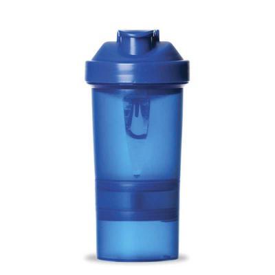 classic-pen-brindes - Coqueteleira 400ml plástica porta suplementos desmontável. Possui: copo 400ml(medida em ml e oz), compartimento com divisória para comprimidos, compar...