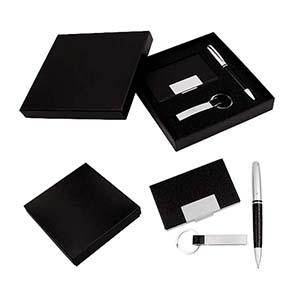 Classic Pen Brindes - Kit executivo caneta, chaveiro e porta cartão.