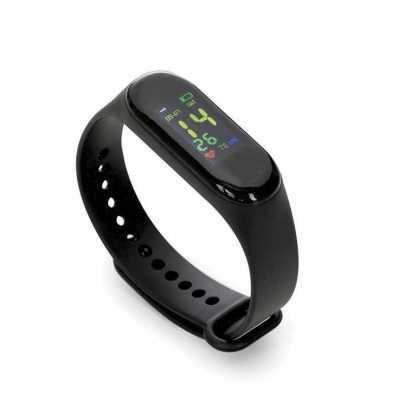 Pulseira inteligente M3. O smartwatch é um relógio fit com sensor que monitora suas atividades do dia a dia para o controle de sua saúde, tem funções... - Classic Pen Brindes