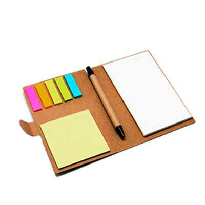 Bloco com sticky notes