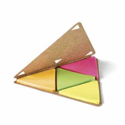 Cartão sticky notes personalizado para brindes. 4 cores com 25 folhas cada. Tamanho total (CxD) :...