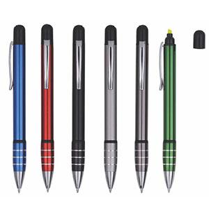 Classic Pen Brindes - Caneta com marca-texto para brindes, cores diversas