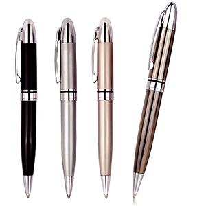 classic-pen-brindes - Caneta personalizada de metal cromada, peso: 32 g, várias cores