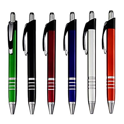 Caneta plástica, cores variadas