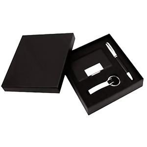 Classic Pen Brindes - Kit executivo com 3 peças, peso total: 198 g