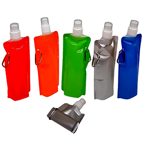 classic-pen-brindes - Squeeze de plástico dobrável, capacidade para 500 ml