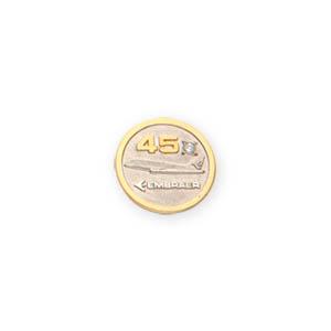 0475a2561 Pin com aplique de ouro amarelo