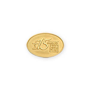 0fbf7b43f Pin em ouro amarelo com impressão personalizada em alto relevo ...