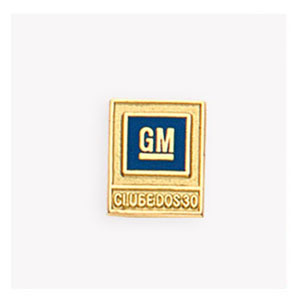 mkorn - Pin em ouro amarelo, com aplicação de esmalte.